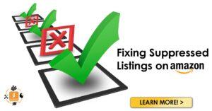 fixing suppressed listings on amazon